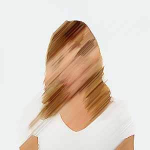 blurry woman