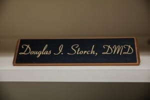 Dr Storch name plate